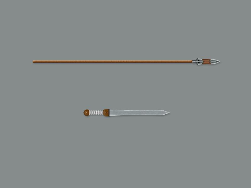 Sword & Spear art photoshop sword spear weapons digital painting