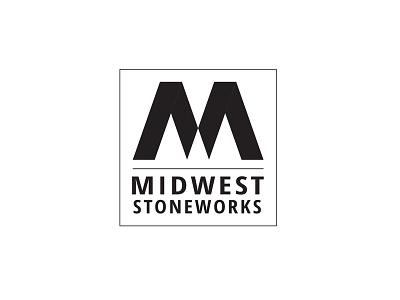 Midwest Stoneworks branding logo vector black white identity