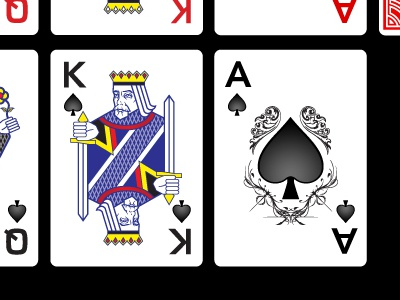 Playing Cards vector illustrator card deck playing cards illustration red black