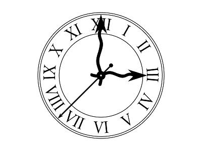 Clock vector illustration art design clock black white clean flat