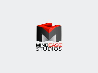 Mindcase Logo logo vector gradient icon square cube black red ai illustration illustrator