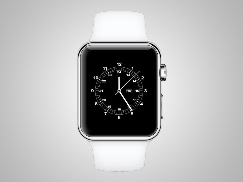 Apple Watch Face watch apple vector apple watch illustrator white ai