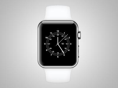 Apple Watch Face watch apple vector apple watch illustrator white ai