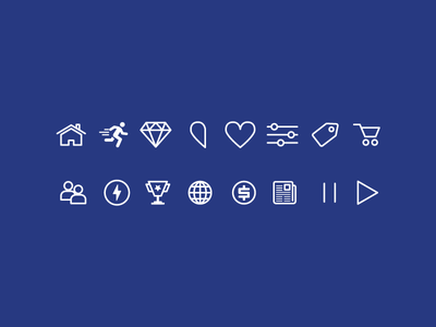 Outline Game UI Icons vector symbols flat outline icons game ui