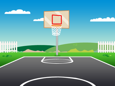 BasketBall Court by Bryan Horsey - Dribbble