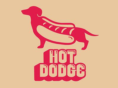 Hot Dodge! sports daschund dog hotdog dodgeball