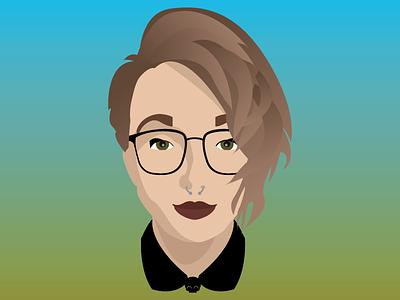 Laileb witch illustration portrait bunz