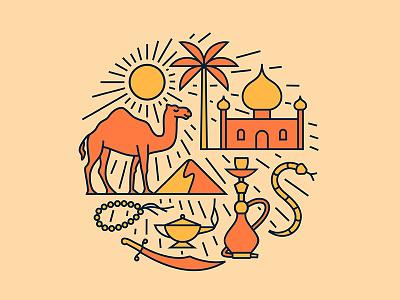 Desert sun camel arabian desert