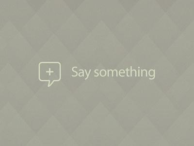 Say something typography texture icon