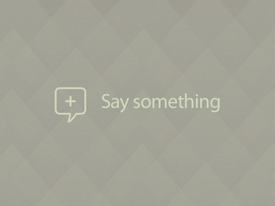 Say something typography texture icon