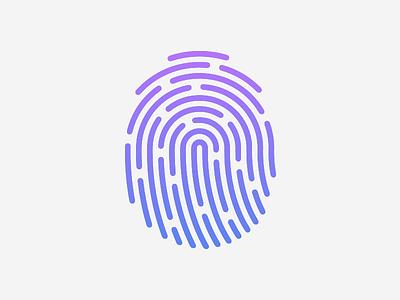 Fingerprint Icon gradient touch id fingerprint icon