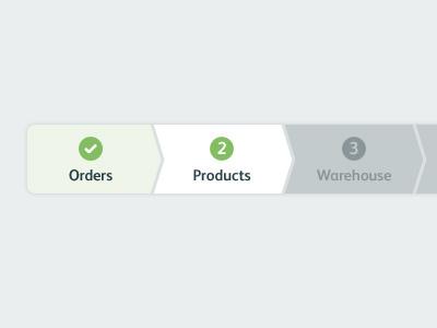 Progress Menu menu buttons step-by-step linear numbers