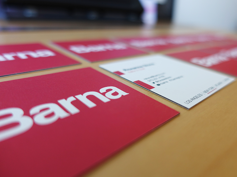 Barna Business Cards id identity brand business card barna