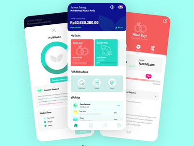 ólinvest (mutualfunds app) branding graphic design animation