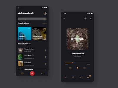 Flexmusic App Design music branding mobile app ui design ui graphic design