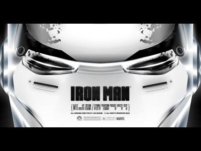 Iron Man - Work in Progress face iron man ironman marvel comics movie movies iron man 3 white custom evil robot robotic comic poster metal