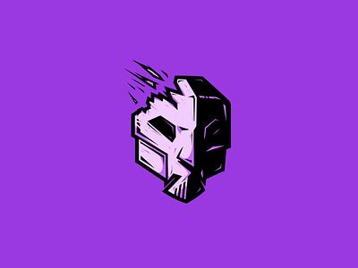Dark Phantom - Villain Logo Series evil phantom mask purple logo villain