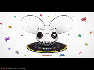Deadmau5 - Light Invador head 2012 deadmau5 wallpaper design illustration mouse colors mad monster epic eyes fanart