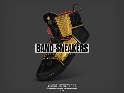 *Band Sneakers* sneakers shoes band kicks gold design