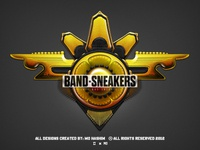 Yellow Badge Design - *Band Sneakers*