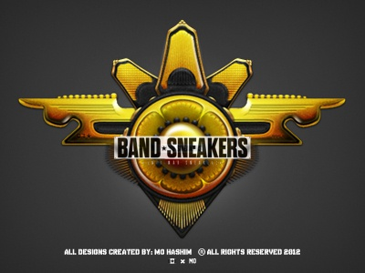Yellow Badge Design - *Band Sneakers* badges badge design luxury accessories accessory gold pin industrial design