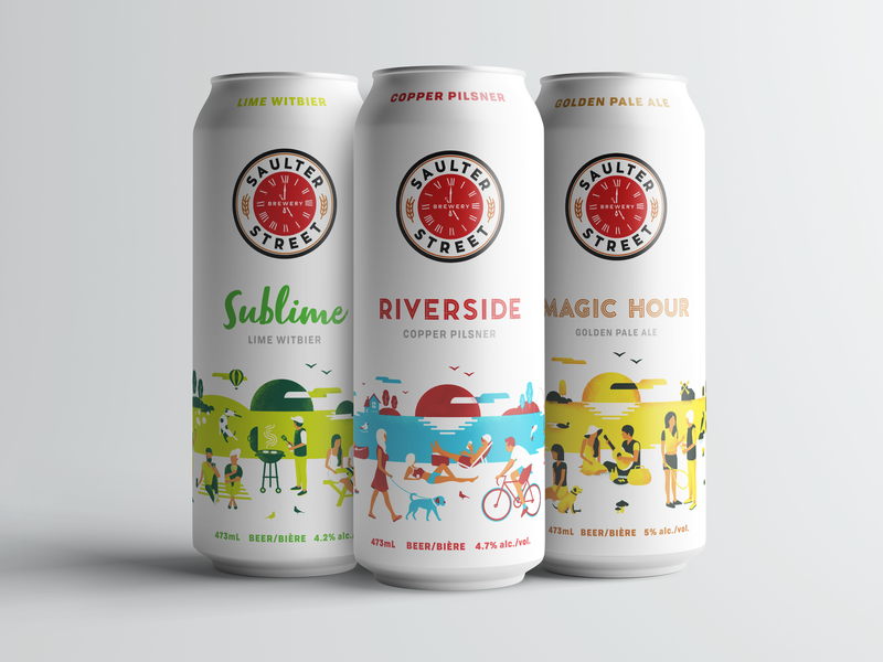 Saulter Street beer can design design illustration beer beer can color colour