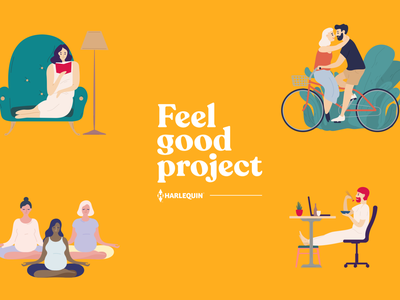 Feel Good Project illustration brand and identity colour color logo branding