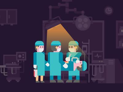 Opration Theatre icon illustrator save life theatre illustration doctors operation