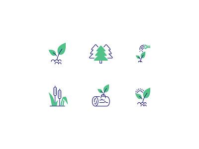 Environment Icon Set fresh clean environment app icon app icon tree icon pattern pattern icon set environment