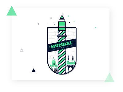 Mumbai type logo illustrator illustration icon design mumbai clean