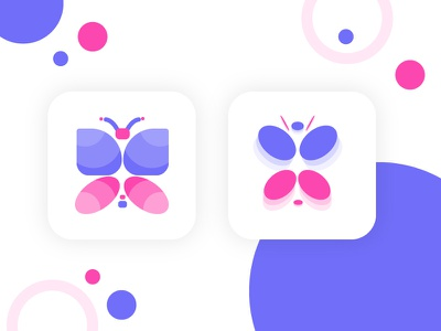 Butterfly App Icon illustration branding create testing ab project clean colors icon app butterfly