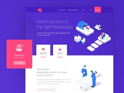 Landing Page colorful isometric 3d gradient medical care medical illustration branding design clean colors illustration landing page