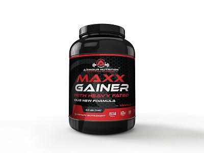 Maxx Gainer health food branding gainer india design packaging print powder protein