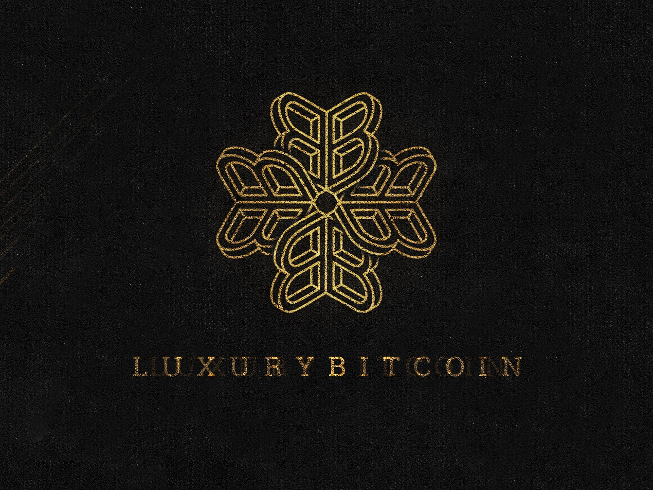LUXURYBITCOIN bitcoin luxury brand luxury logo