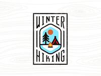 Winter Hiking winter hiking badge logo
