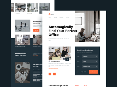 Aplace - Coworking Landing Page coffee cafe website design freelance remote coworking coworking space ui clean homepage landing page web design website