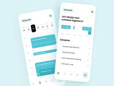 Application of Time Discipline list meeting task management calender ios productivity app to do list ux mobile time shedule design clean app ui