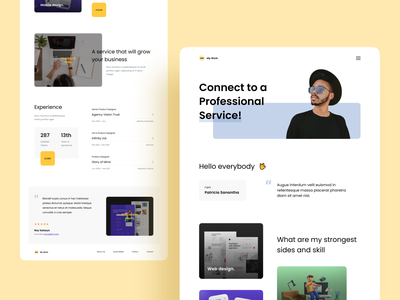 My Work Landing Page personal branding ux agency agency website studio service app digital marketing creativedesign uiux branding design website landing page ui