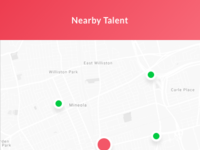 Nearby talent homecare app