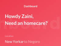 Dashboard homecare app