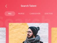 Search talent homecare app