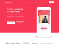Landing page red