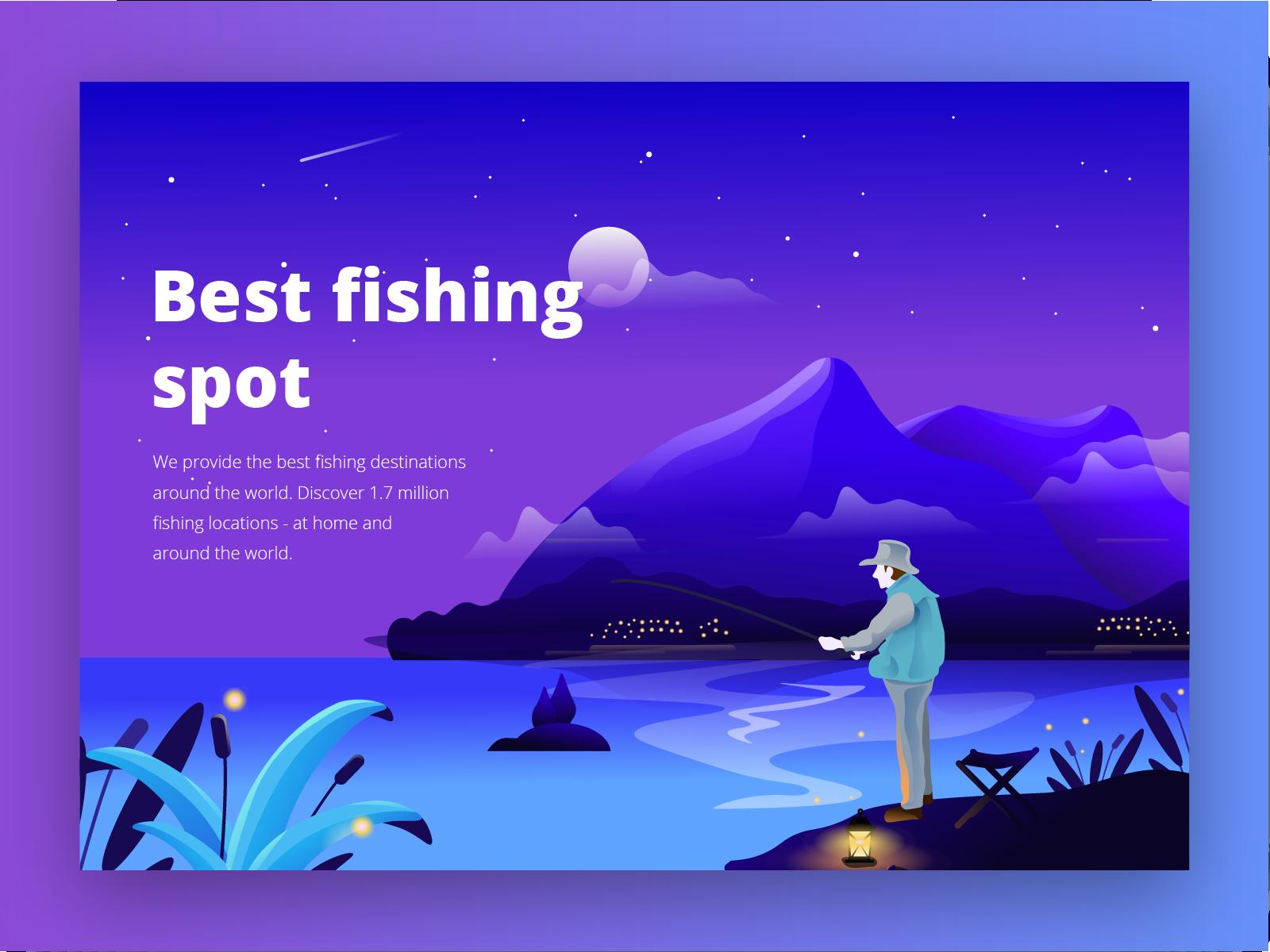 Fishing landing page