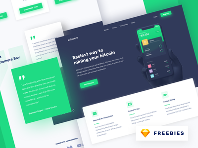Freebies - Autocryp Landing Page landing page homepage bitcoin download free freebies cyptocurrency currency dashboard finance trading