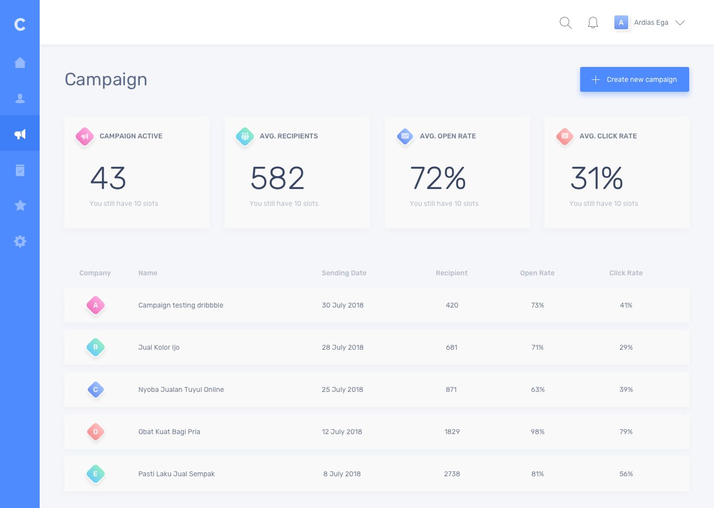 Campaign dashboard details