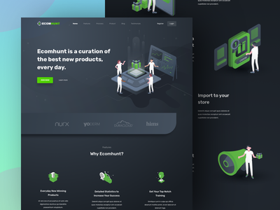 Ecommerce Product Curation Landing Page currency crypto chart analytic dashboard curation marketing product review ecommerce illustration isometric landing page homepage ui