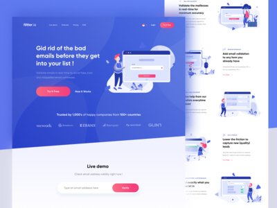 Realtime Email Validate Landing Page