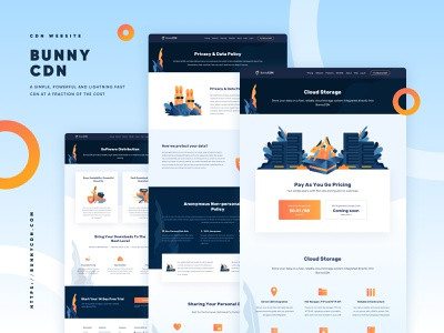 BunnyCDN Landing Page - Cloud Storage security data storage cloud internet hosting vpn cdn redesign illustration ui landing page website homepage