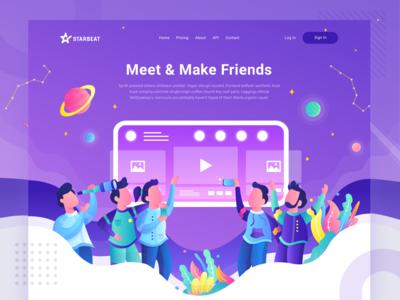 Starbeat Header Illustration - Meet Friends