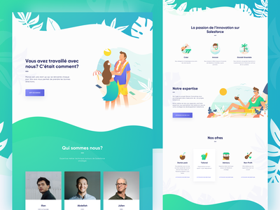 Manao Consulting Web Landing Page web design flat profile company advisor holiday beach summer illustration consulting website landing page homepage